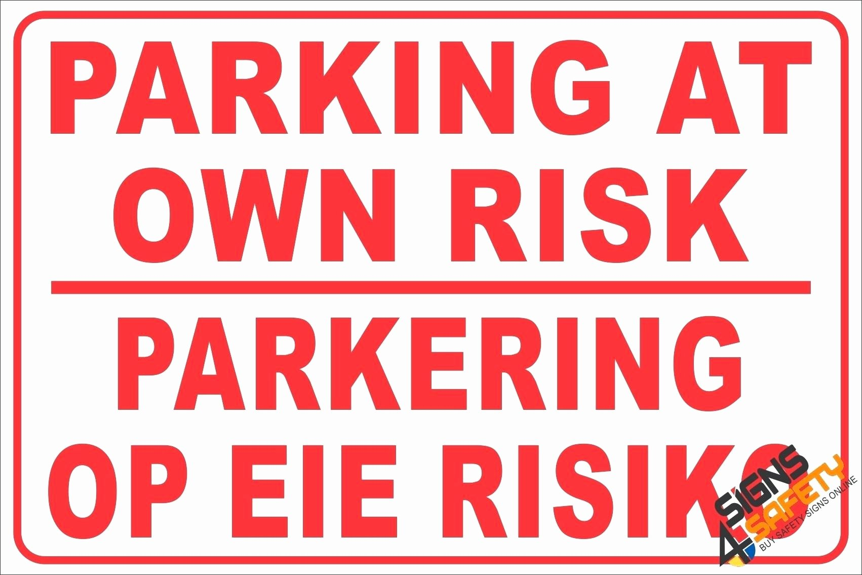 Template Reserved Parking Sign Template No Video