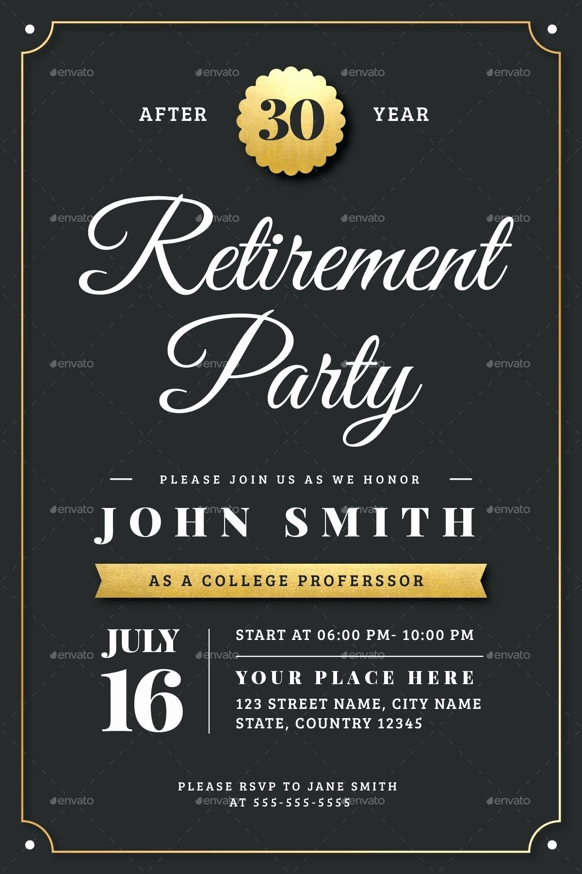Template Retirement Flyer Template
