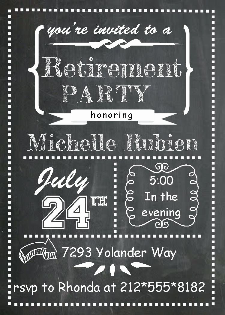 Template Retirement Party Invitation Template