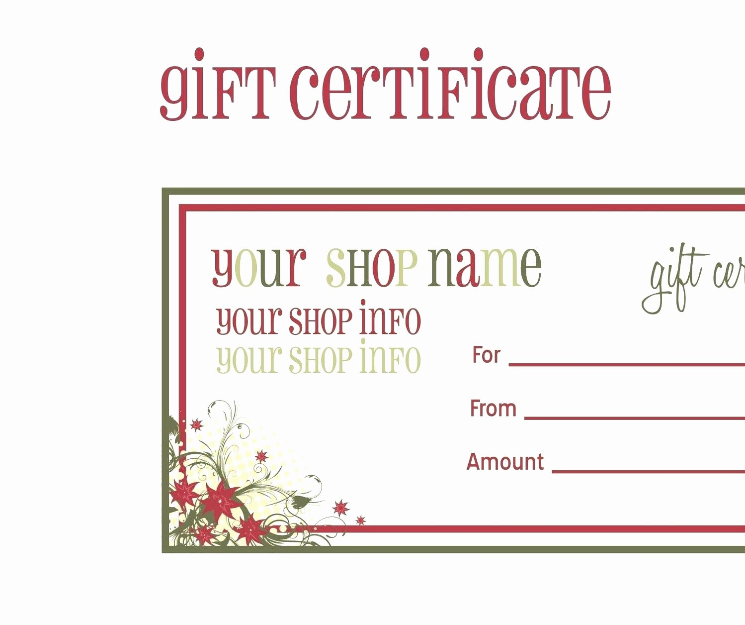 Template Shopping Spree Certificate Template