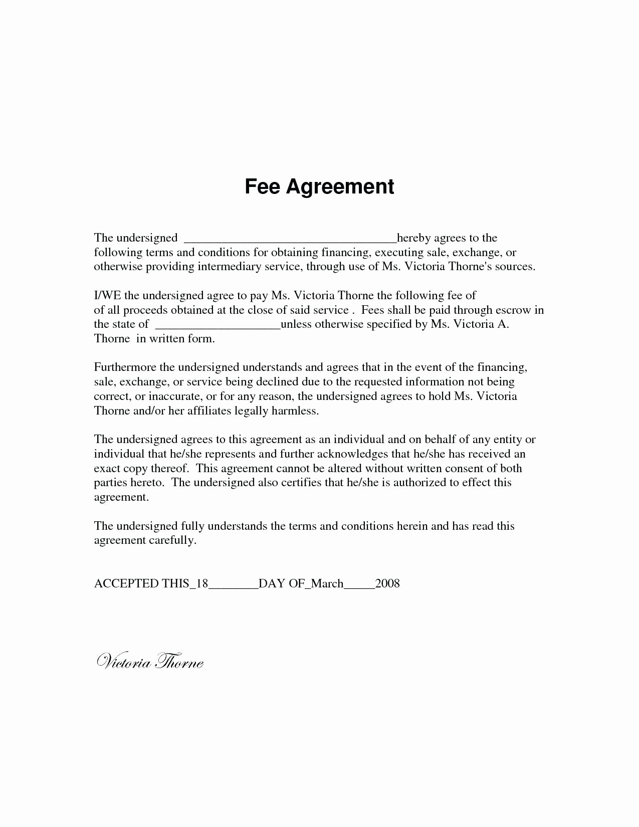 Template Standard Service Contract Template