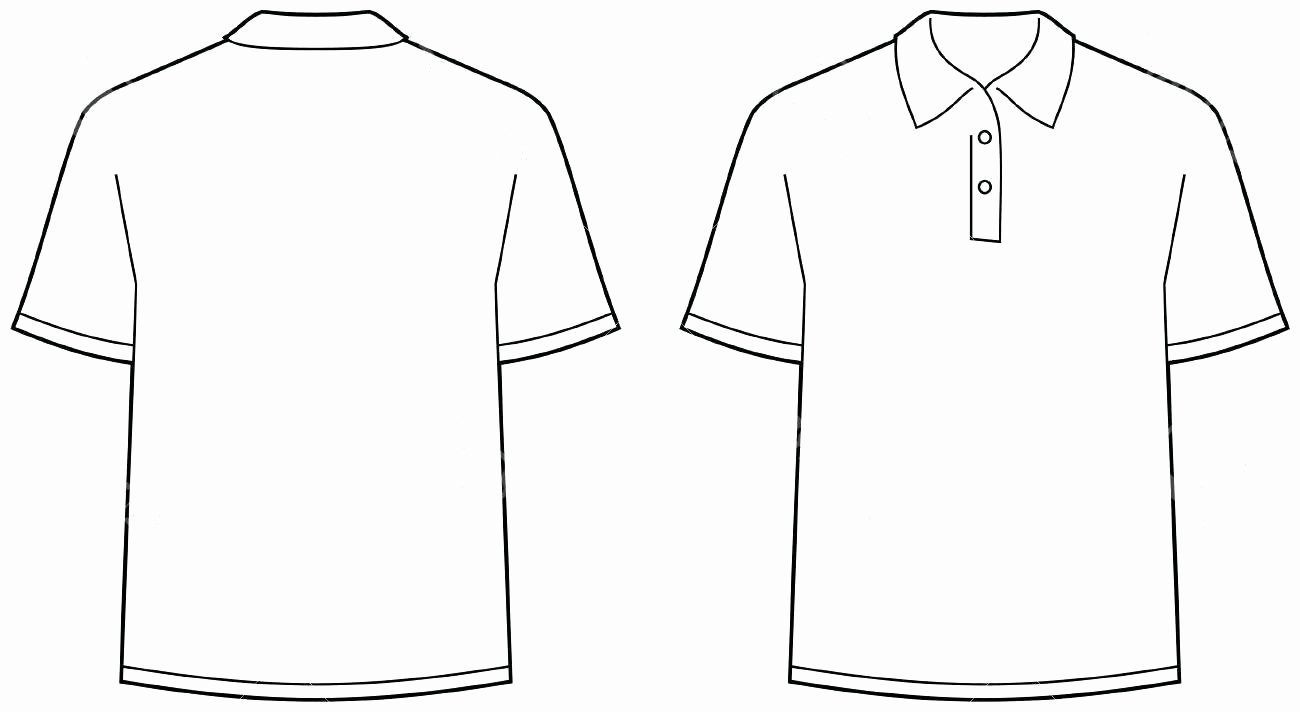 Template T Shirt Back Template Best Polo Vectors Free