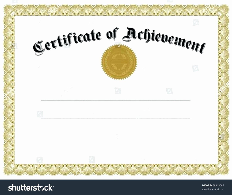 Template Template Certificate Achievement