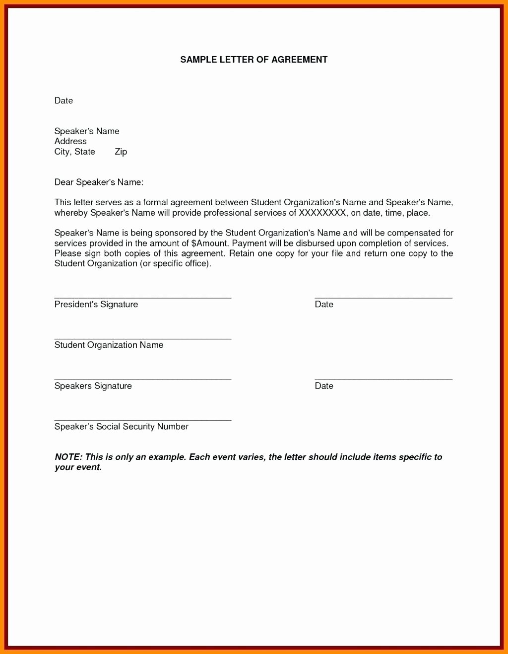Template Termination Service Contract Letter Template