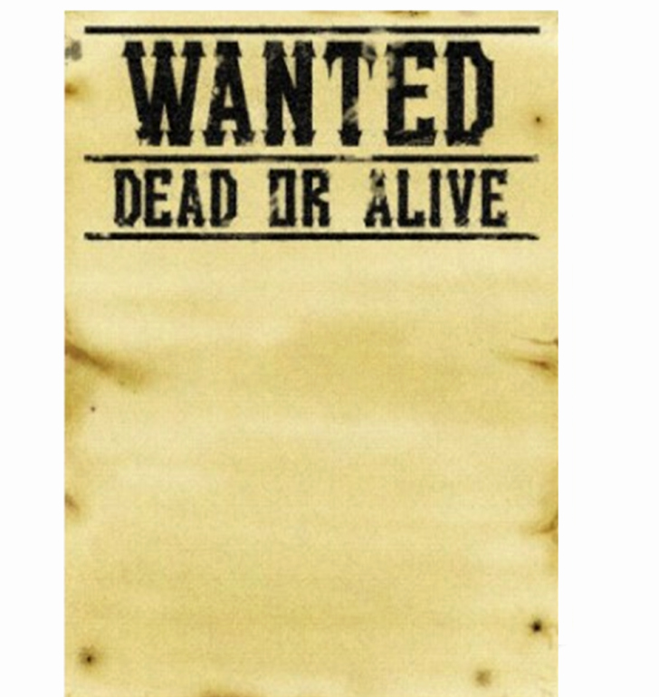 Template Wanted Poster Template