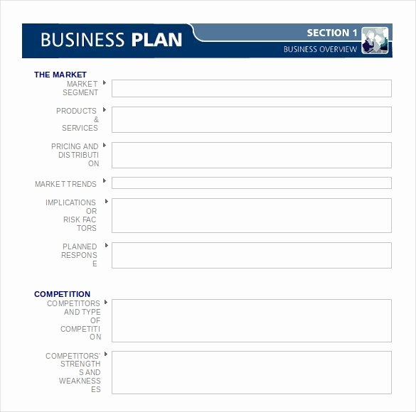 Template Word for Business Plan Microsoft Word Business