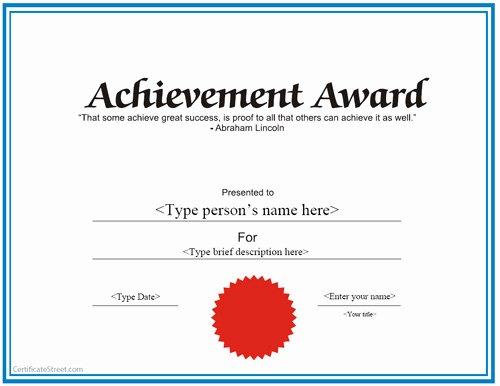Templates for Certificates Achievement