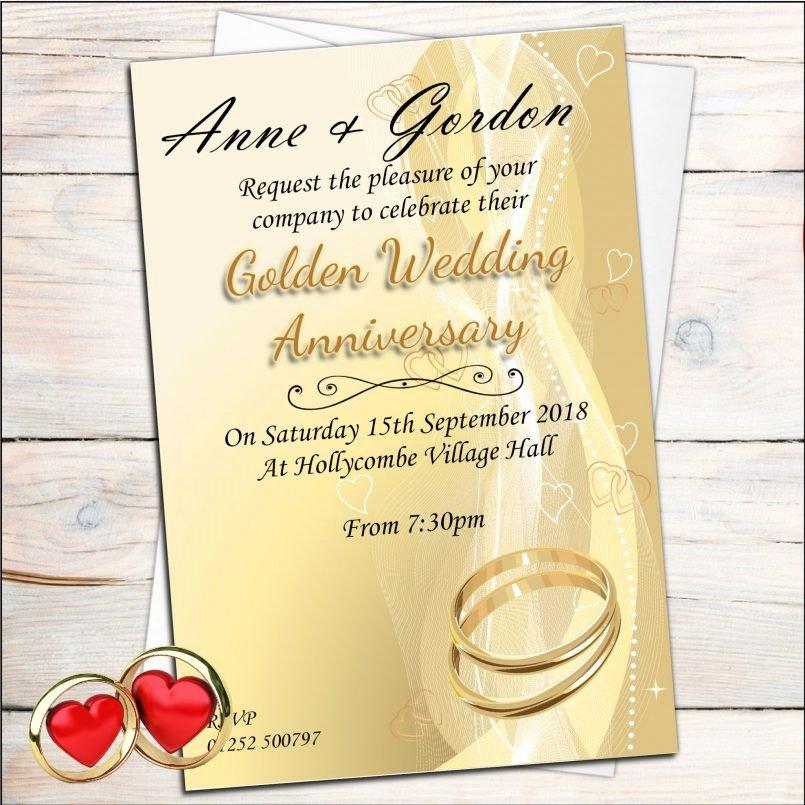 Templates Invitations for Th Wedding Anniversary Als