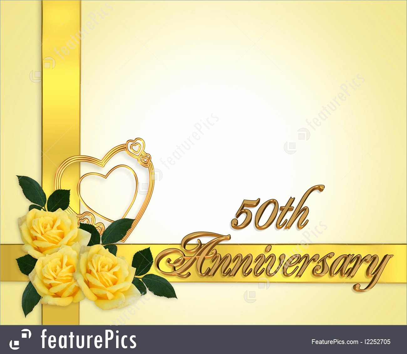 Templates Wedding Anniversary 50th Background Stock