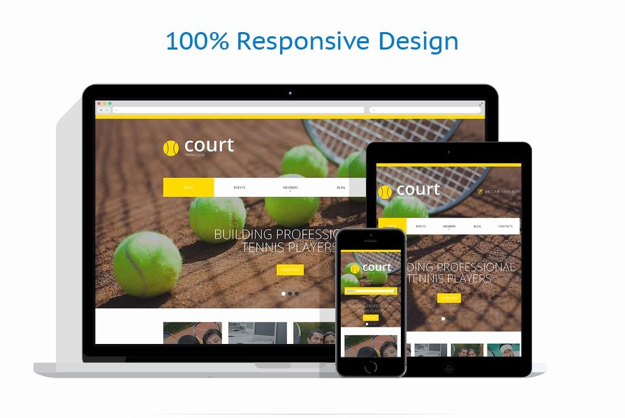 Tennis Responsive Website Template