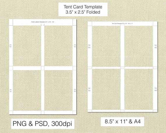 Tent Cards 3 5 X 2 5 Inch Folded Food Labels Buffet Labels