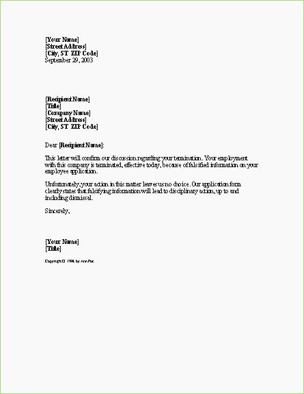 Termination Letter format for Employee – thepizzashop