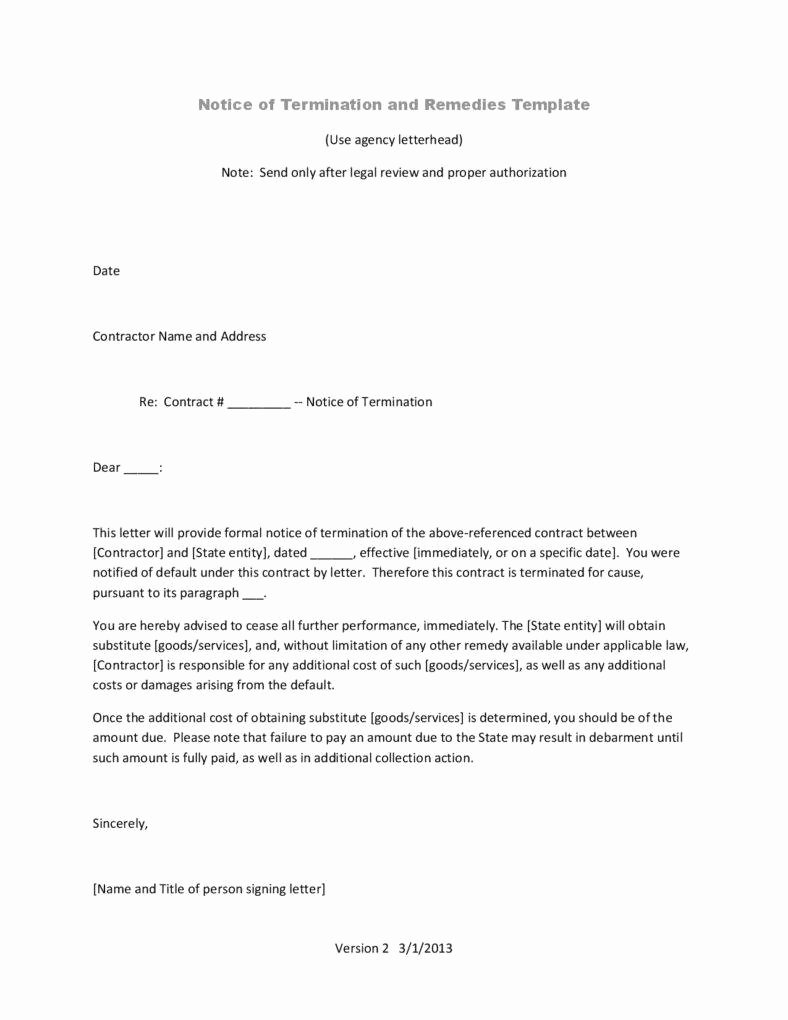 Termination Letter Templates 26 Free Samples Examples
