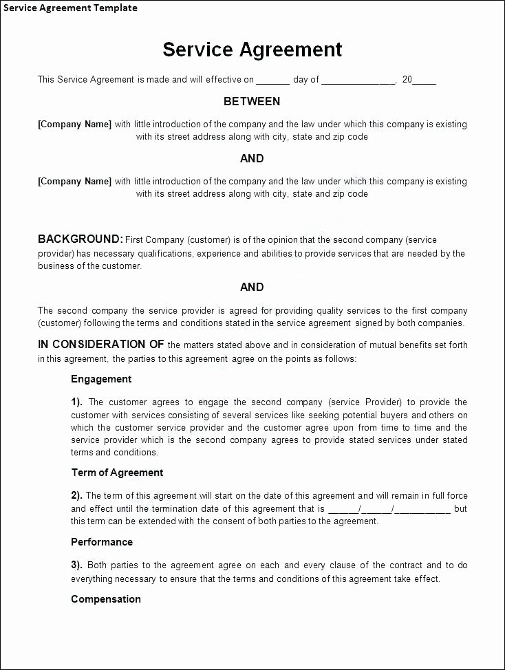 Terms Conditions Service Template Contract and Free