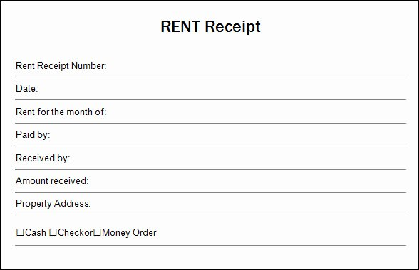 Terrific Blank Rent and Sales Receipt Template Pdf