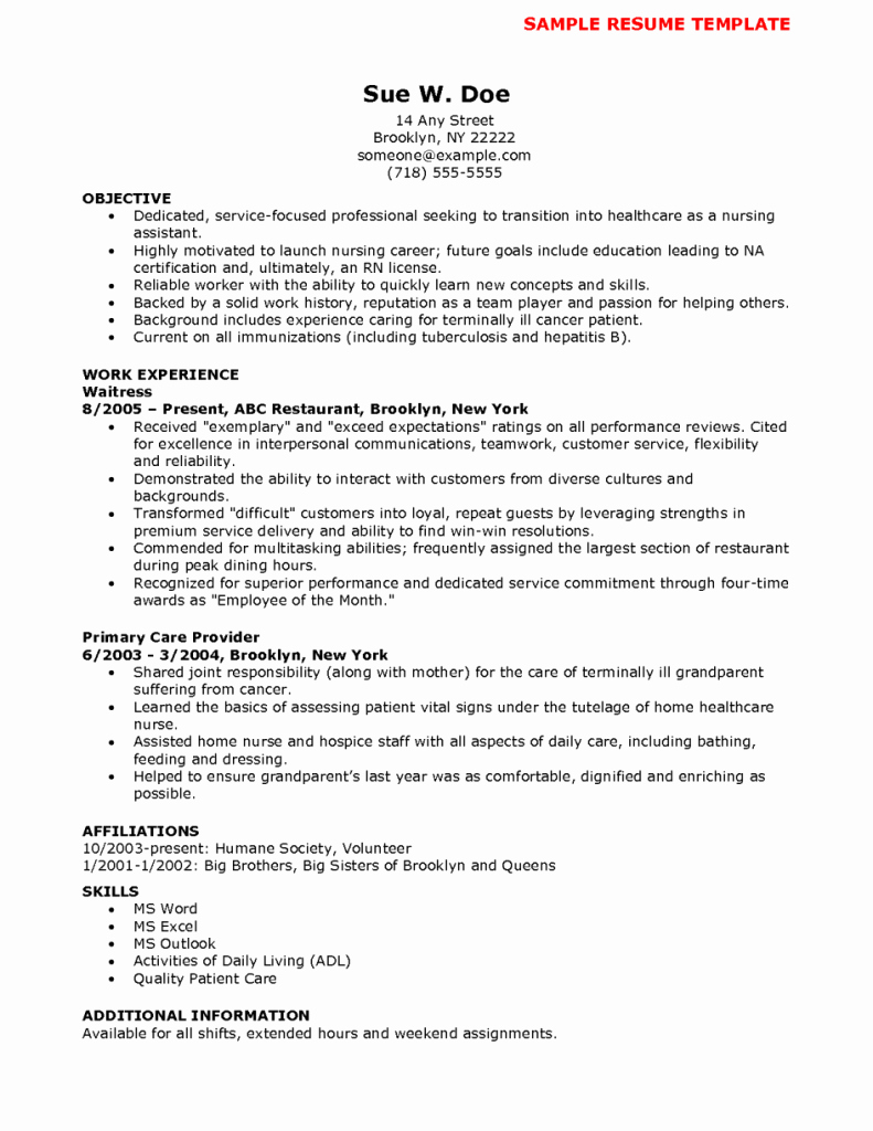 Terrific Sample Resume for Nurses with Experience Template