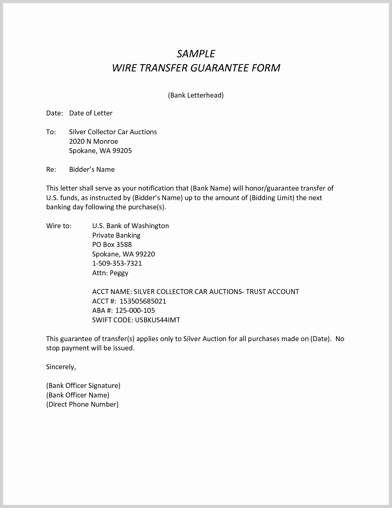 Terrific Wire Transfer Template Resume Ideas