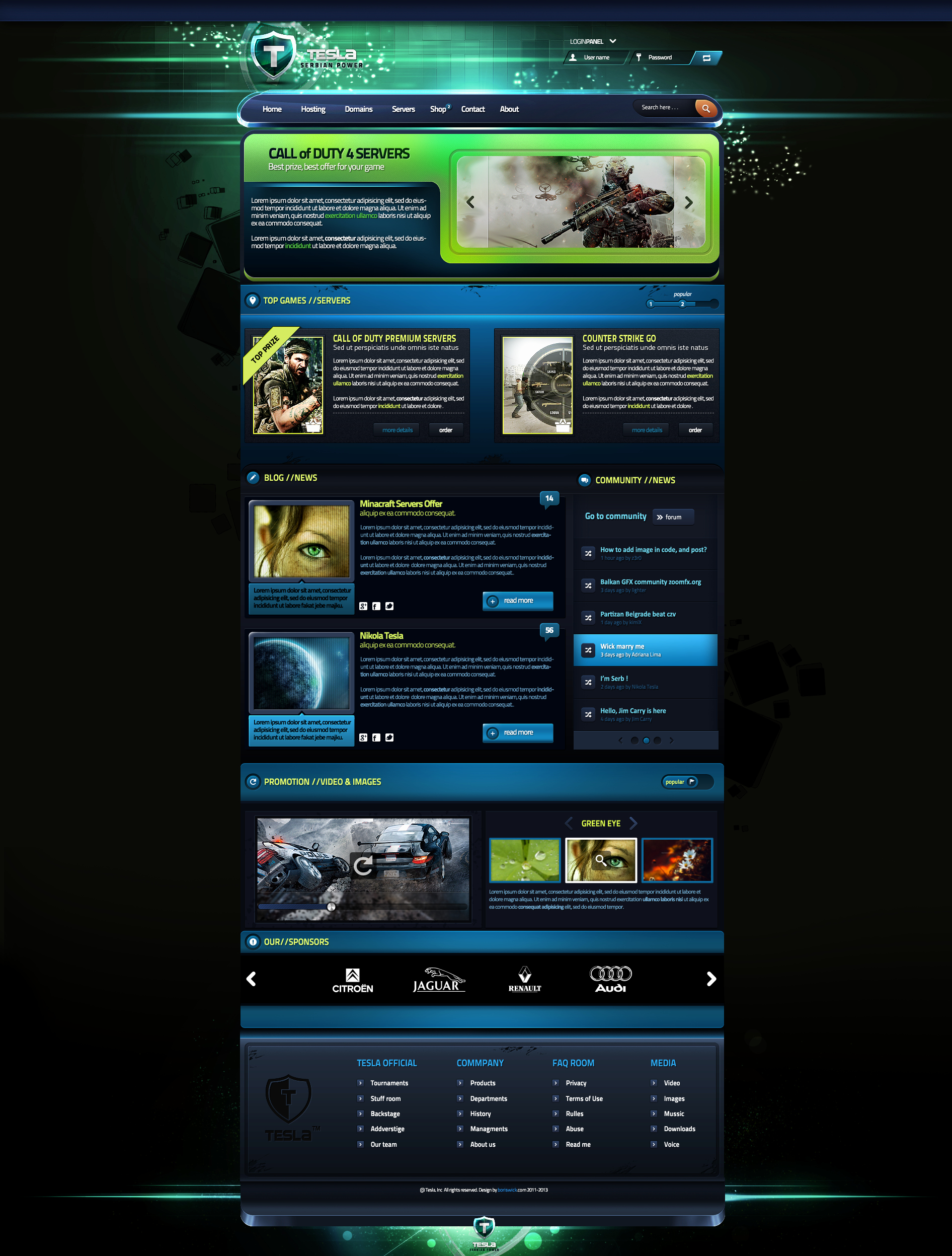 Tesla Gaming Template for Sale by Boriswick On Deviantart