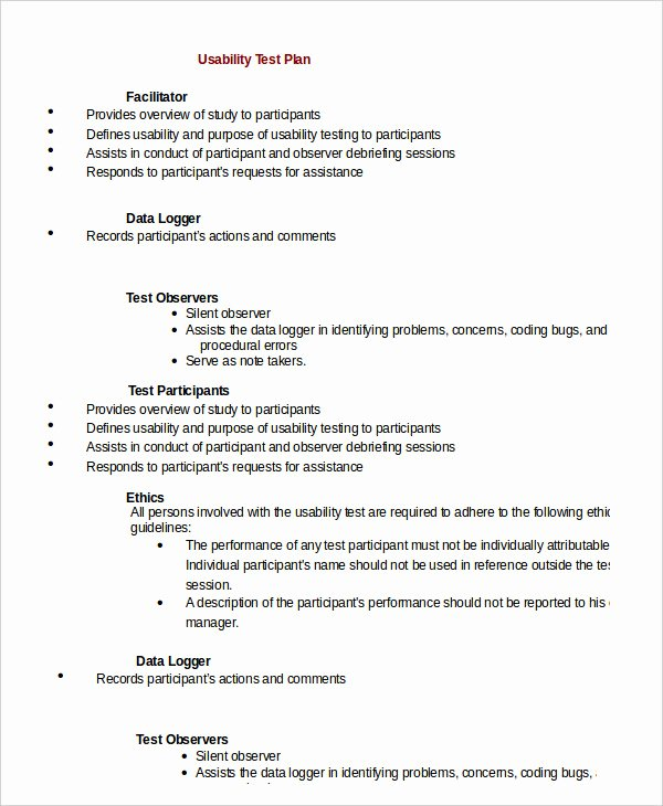 Test Plan Template 11 Free Word Pdf Documents Download