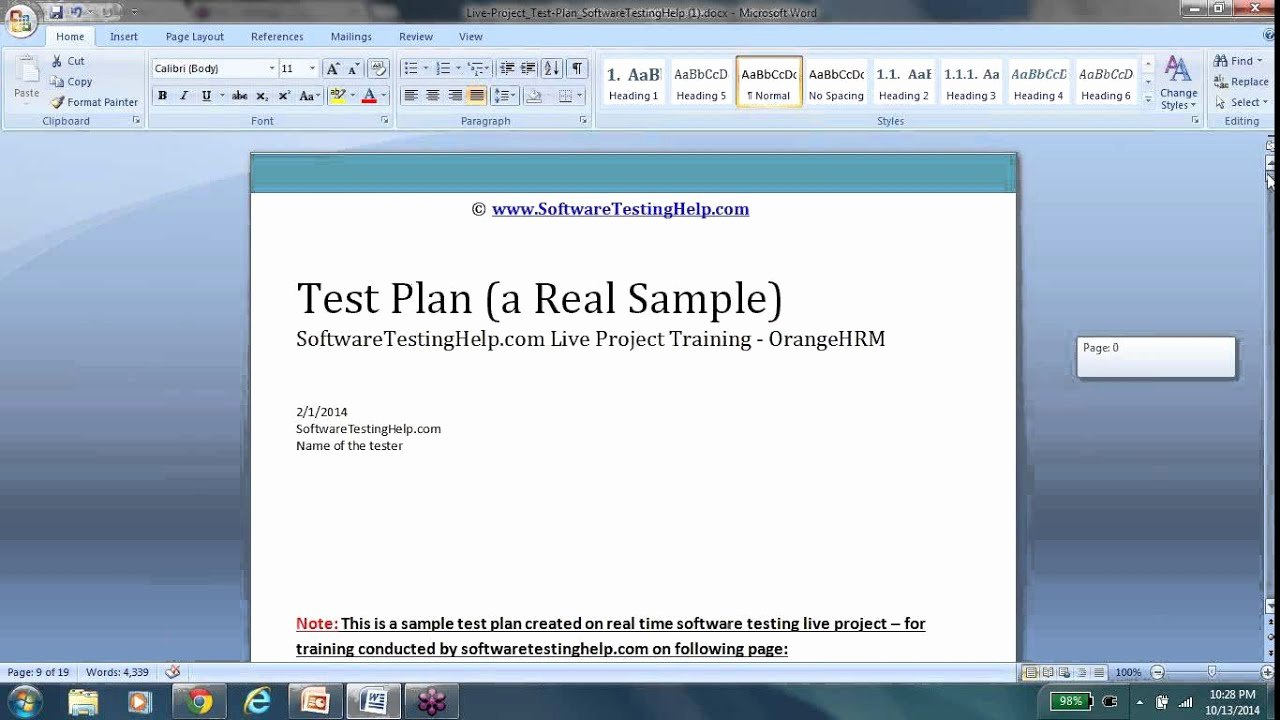 Test Plan Test Plan Template Test Plan Document Test