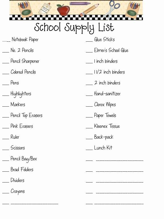 Texas School Texas School Supplies List