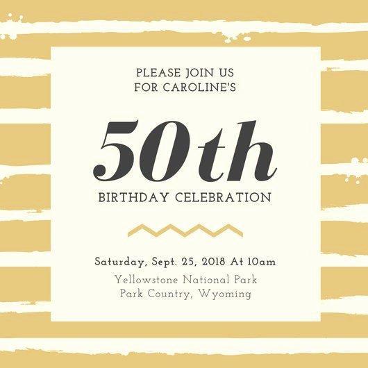 Th Birthday Invitation Templates Free Printable