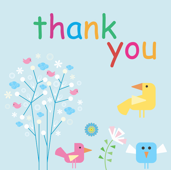 Thank You Card Template 6 Beautiful Designs for Word