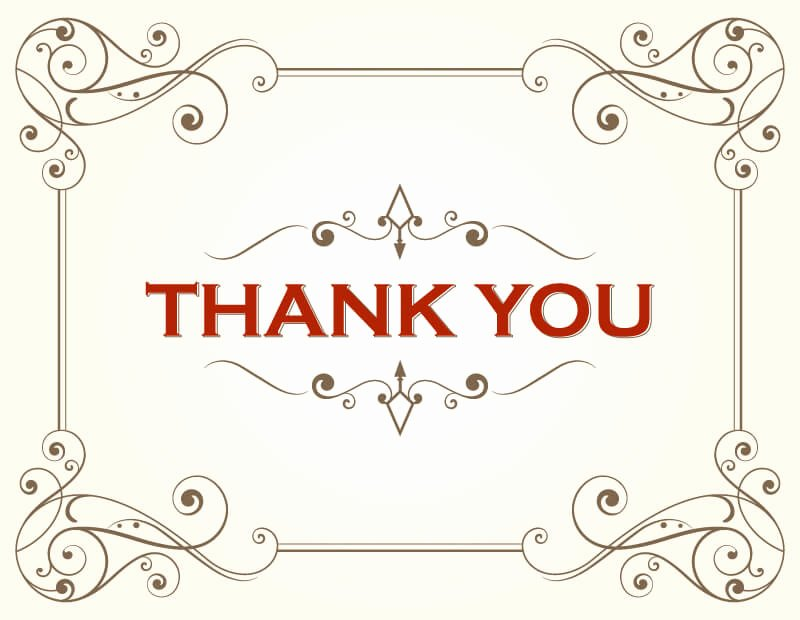Thank You Card Template Free Vectors