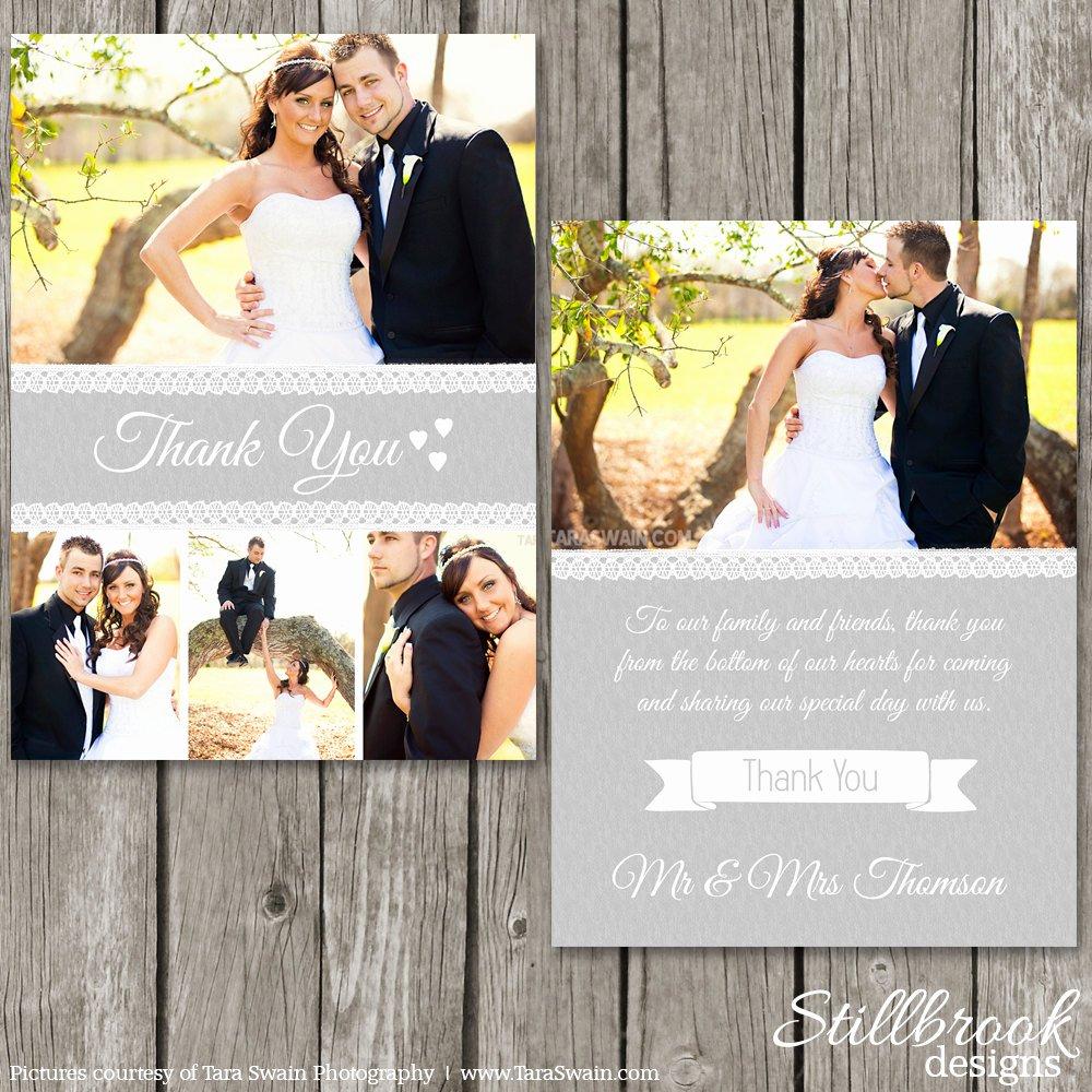Thank You Card Wedding Thank You Template Shop