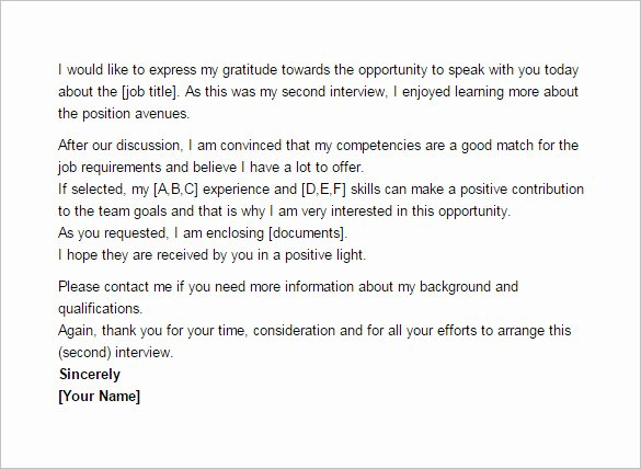 Thank You Email after Second Interview – 5 Free Sample