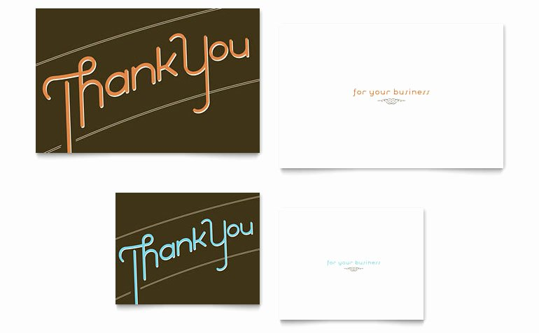 Thank You Note Card Template Word & Publisher