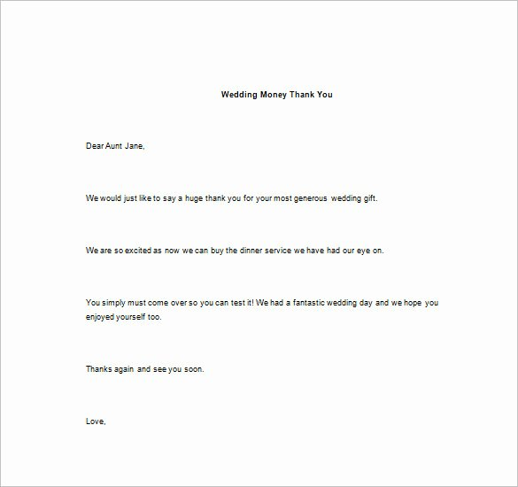 Thank You Note for Money – 8 Free Word Excel Pdf format