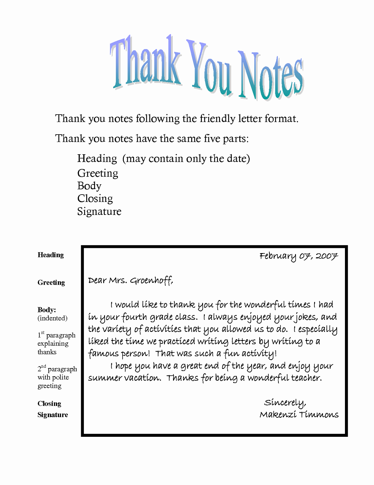 Thank You Notes Templates