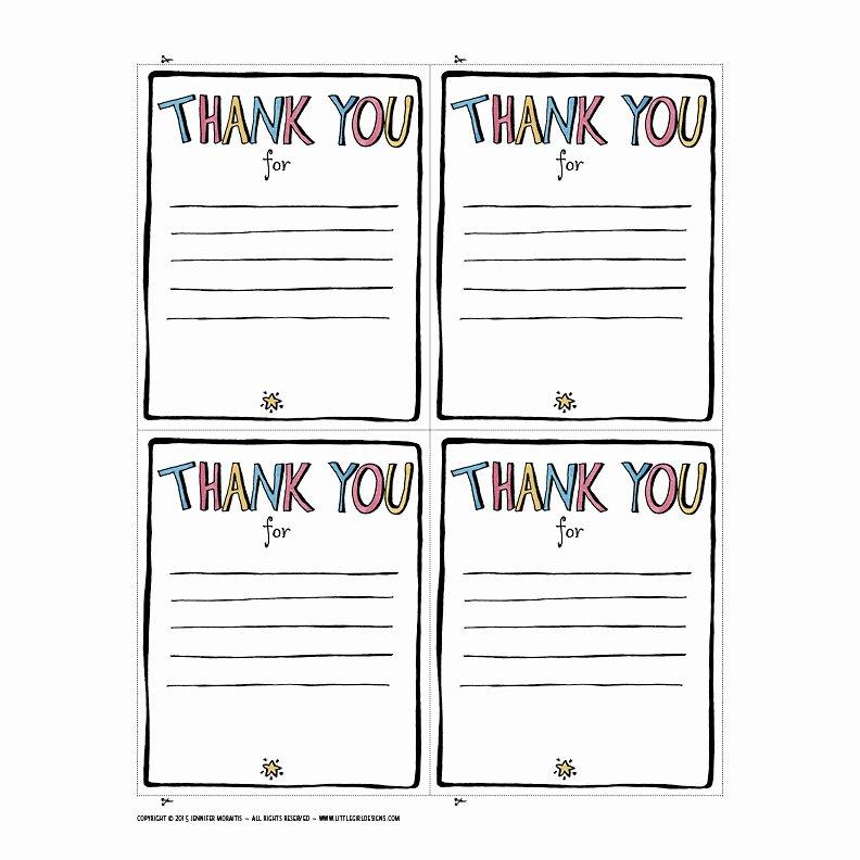 Thank You Printable Jennie Moraitis