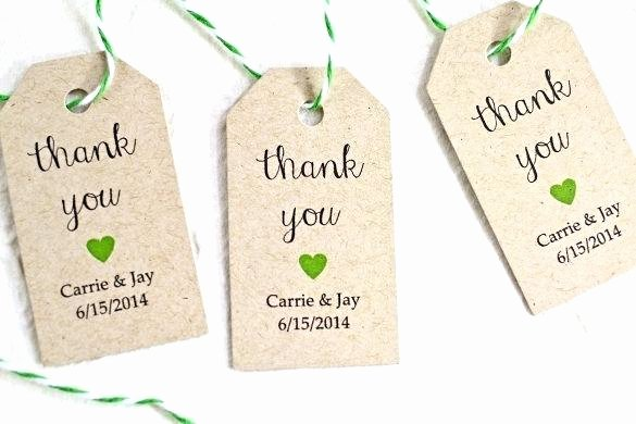 Thank You Printable Tags Vector format Wedding Favor