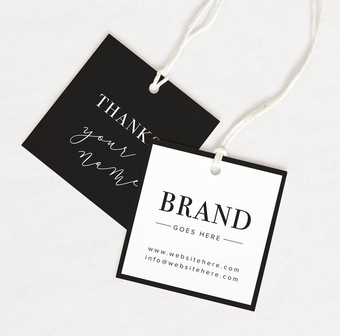Thank You Tag Product Thank You Custom Hang Tag Custom