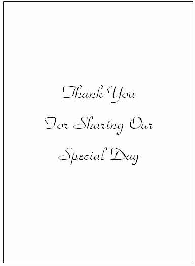 Thank You Wedding Cards Templates