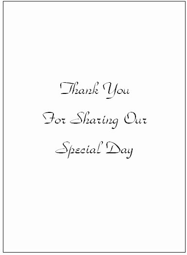 Thank You Wedding Cards Templates