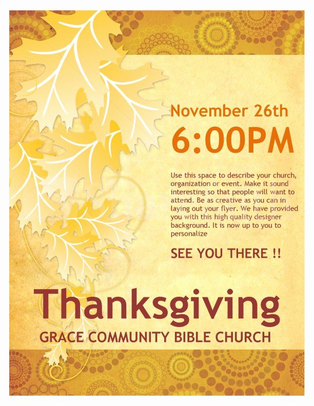 Thanksgiving Church Flyer Template