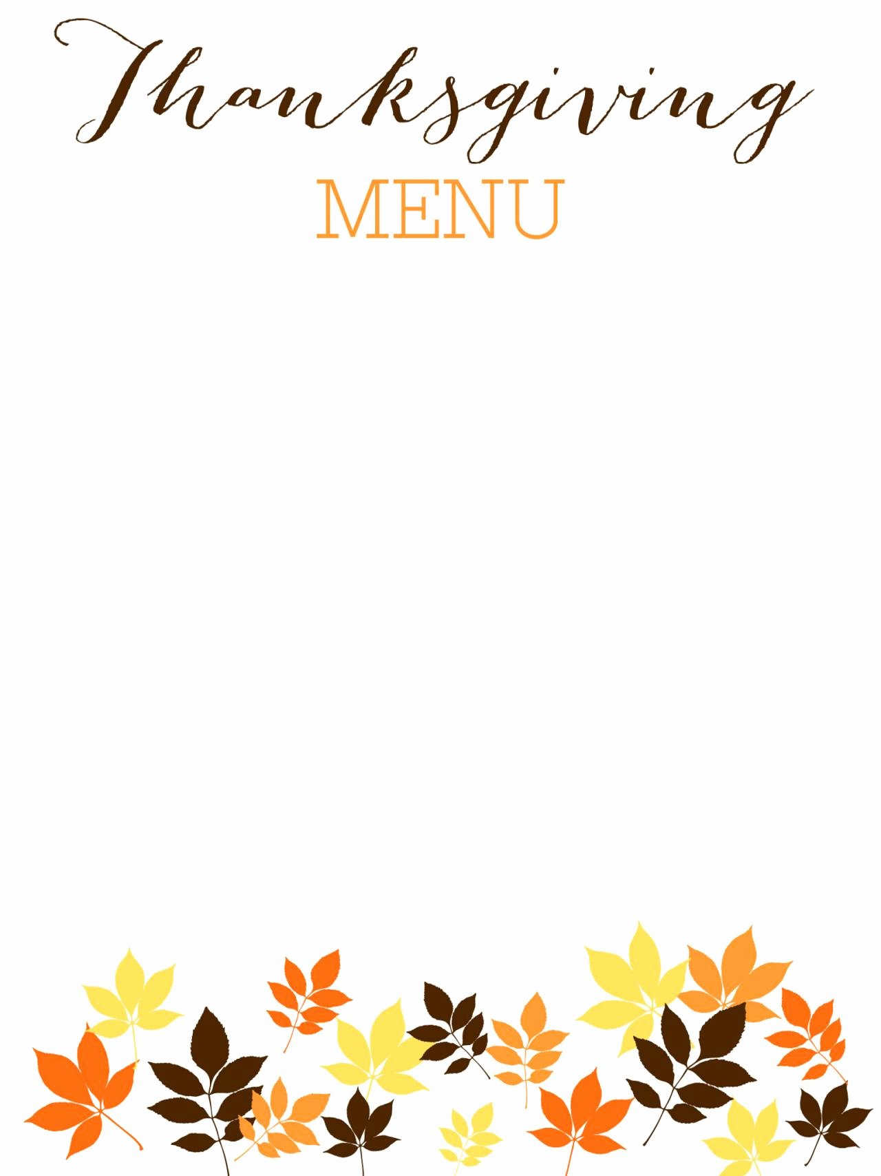 Thanksgiving Day Menu Templates – Happy Easter