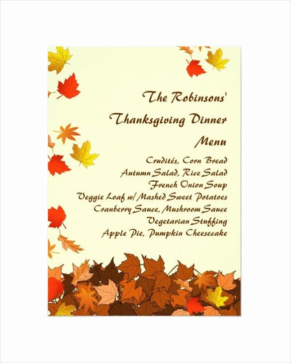 Thanksgiving Menu Template 27 Free Psd Eps format