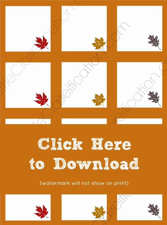 Thanksgiving Table Name Cards Templates – Happy Easter