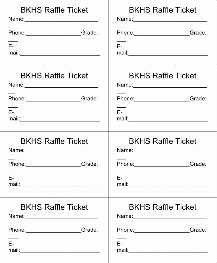 The 25 Best Free Raffle Ticket Template Ideas On