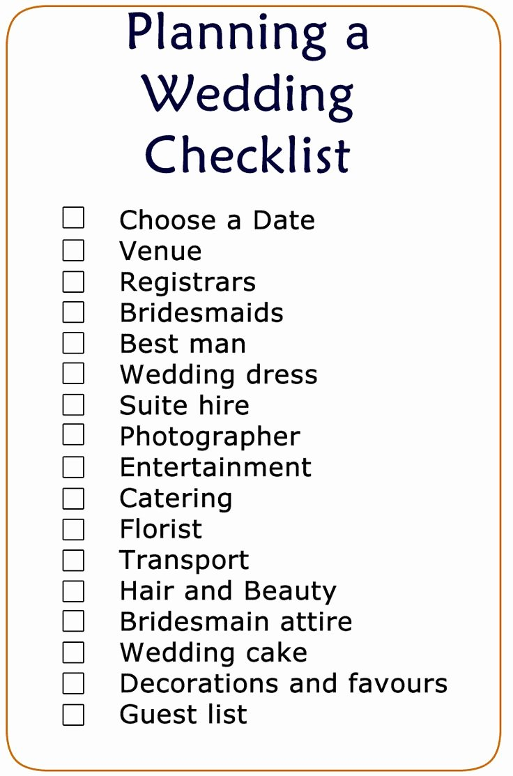 The 25 Best Wedding Checklist Printable Ideas On