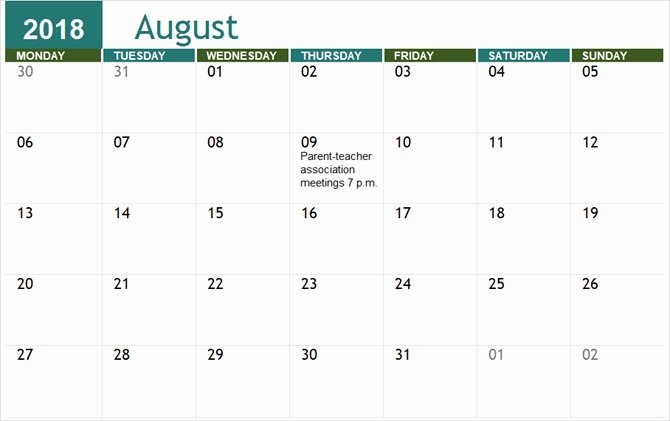 best free calendar templates microsoft office