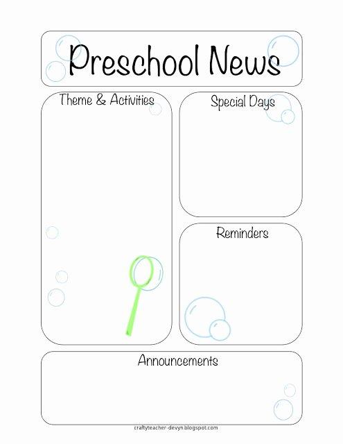 The Crafty Teacher Newsletter Templates