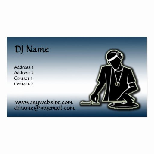 The Dj Improved Double Sided Standard Business Cards