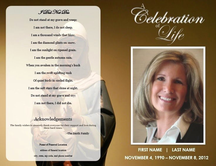 The Funeral Memorial Program Blog Free Funeral Program