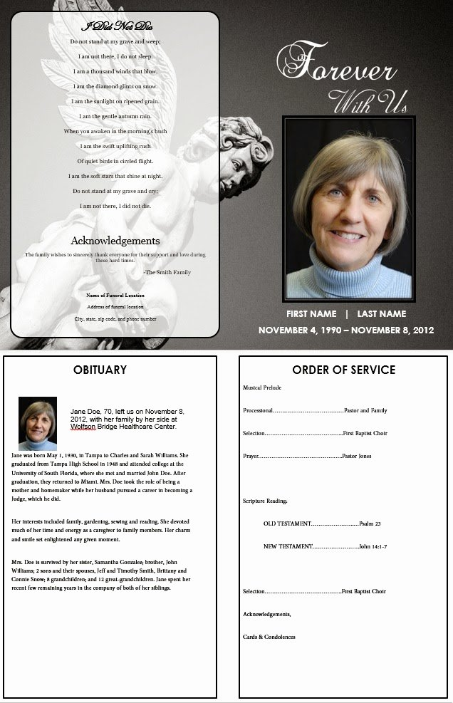 The Funeral Memorial Program Blog What to Include In A