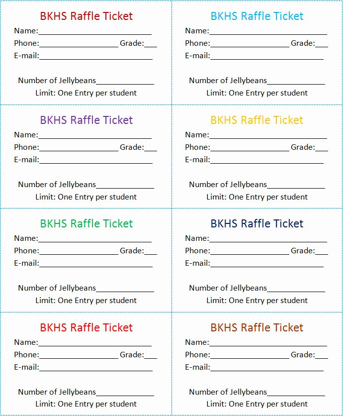 The Gallery for Blank Diaper Raffle Ticket